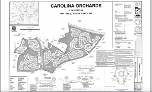 The plot as submitted to the Town of Fort Mill.